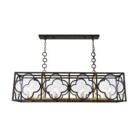 Elegant Lighting 1526G54ACCG Trinity 8 Light 14 inch Aged Copper and Golden Iron Chandelier Ceiling Light, Urban Classic