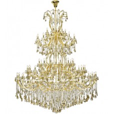 Elegant Lighting 2803G120G-GT/RC Maria Theresa 84 Light 96 inch Gold Chandelier Ceiling Light