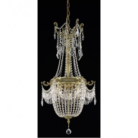 Elegant Lighting 9306D18FG/SA Esperanza 6 Light 18 inch French Gold Dining Chandelier Ceiling Light in Spectra Swarovski