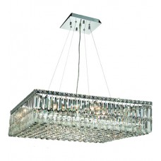 Elegant Lighting V2032D32C/SA Maxime 12 Light 32 inch Chrome Dining Chandelier Ceiling Light in Spectra Swarovski