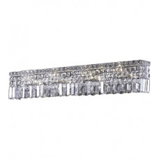 "Elegant Lighting V2032W30C/SS Maxime 7 Light 30 inch Chrome Vanity Wall Light in 30"" 7 Light, Clear, Swarovski Strass"