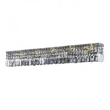 "Elegant Lighting V2032W44C/SA Maxime 10 Light 44 inch Chrome Vanity Wall Light in 44"" 10 Light, Clear, Spectra Swarovski"
