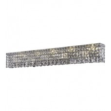 "Elegant Lighting V2033W44C/SS Maxime 10 Light 44 inch Chrome Vanity Wall Light in 44"" 10 Light, Clear, Swarovski Strass"