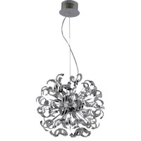 Elegant Lighting V2068D27C/EC Tiffany 25 Light 28 inch Chrome Dining Chandelier Ceiling Light in Elegant Cut