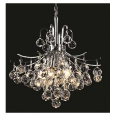 Elegant Lighting V8000D16C/RC Toureg 6 Light 16 inch Chrome Dining Chandelier Ceiling Light in Royal Cut
