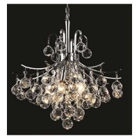 Elegant Lighting V8000D16C/SS Toureg 6 Light 16 inch Chrome Dining Chandelier Ceiling Light in Swarovski Strass