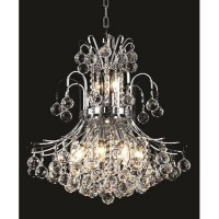 Elegant Lighting V8001D19C/SA Toureg 10 Light 19 inch Chrome Dining Chandelier Ceiling Light in Spectra Swarovski
