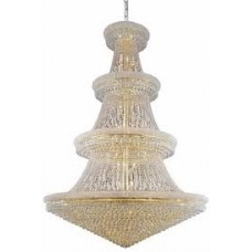 Elegant Lighting V1800G72G/SA Primo 66 Light 72 inch Gold Foyer Ceiling Light in Spectra Swarovski