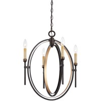 EuroFase 25646-016 Infinity 4 Light 19 inch Oil Rubbed Bronze Chandelier Ceiling Light