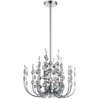 EuroFase 26390-017 Vice 9 Light 20 inch Polished Chrome Chandelier Ceiling Light