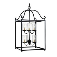 Feiss F2970/6AF Declaration 6 Light 18 inch Antique Forged Iron Chandelier Ceiling Light in Standard