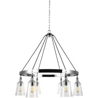 Feiss F3170/6CH Loras 37 inch Chrome Chandelier Ceiling Light