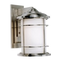Feiss OL2202BS Lighthouse 1 Light 15 inch Brushed Steel Outdoor Wall Sconce in Standard