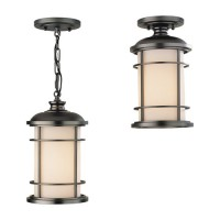 Feiss OL2209BB Lighthouse 1 Light 7 inch Burnished Bronze Outdoor Semi Flush Mount in Standard