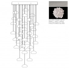 Fine Art Lamps 853440-105LD Natural Inspirations LED 36 Light 34 inch Silver Drop Light Ceiling Light