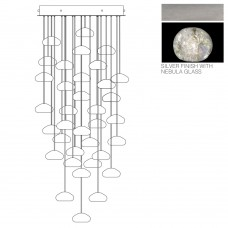 Fine Art Lamps 853440-106LD Natural Inspirations LED 36 Light 34 inch Silver Drop Light Ceiling Light