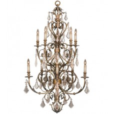 Fine Art Lamps 180940ST Verona 10 Light 36 inch Gold Chandelier Ceiling Light
