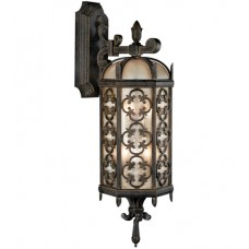 Fine Art Lamps 338281ST Costa del Sol 2 Light 27 inch Wrought Iron Outdoor Wall Sconce