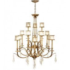 Fine Art Lamps 567740ST Monte Carlo 15 Light 58 inch Gold Chandelier Ceiling Light