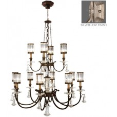 Fine Art Lamps 584740-2ST Eaton Place 12 Light 53 inch Silver Chandelier Ceiling Light