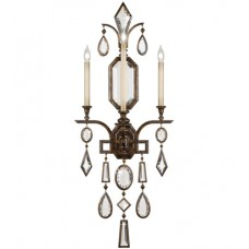 Fine Art Lamps 710450-3ST Encased Gems 3 Light 19 inch Bronze Wall Sconce Wall Light