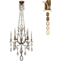 Fine Art Lamps 725640-1ST Encased Gems 8 Light 31 inch Gold Chandelier Ceiling Light