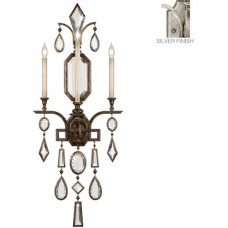 Fine Art Lamps 726950-3ST Encased Gems 3 Light 19 inch Silver Wall Sconce Wall Light