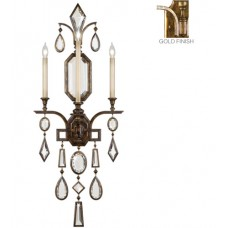 Fine Art Lamps 727050-3ST Encased Gems 3 Light 19 inch Gold Wall Sconce Wall Light