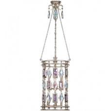 Fine Art Lamps 727440-1ST Encased Gems 6 Light 15 inch Silver Lantern