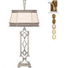 Fine Art Lamps 730310-1ST Encased Gems 38 inch 150 watt Gold Table Lamp Portable Light