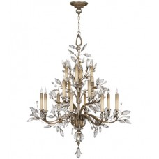 Fine Art Lamps 759440ST Crystal Laurel 16 Light 45 inch Antique Taupe Chandelier Ceiling Light