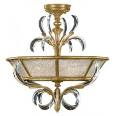 Fine Art Lamps 767740ST Beveled Arcs 3 Light 26 inch Gold Semi-Flush Mount Ceiling Light
