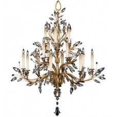 Fine Art Lamps 773740ST Crystal Laurel 16 Light 45 inch Gold Chandelier Ceiling Light