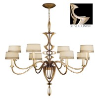 Fine Art Lamps 786640ST Staccato 8 Light 51 inch Silver Chandelier Ceiling Light