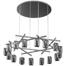 Fine Art Lamps 878340-1ST Monceau 16 Light 67 inch Silver Chandelier Ceiling Light