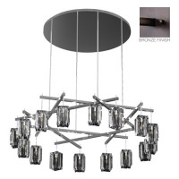 Fine Art Lamps 878340ST Monceau 16 Light 67 inch Bronze Chandelier Ceiling Light