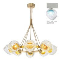 Fine Art Lamps 899240-18AQ Nest 1 Light 8 inch Silver Pendant Ceiling Light