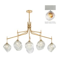 Fine Art Lamps 899340-1AB Nest 1 Light 8 inch Silver Pendant Ceiling Light