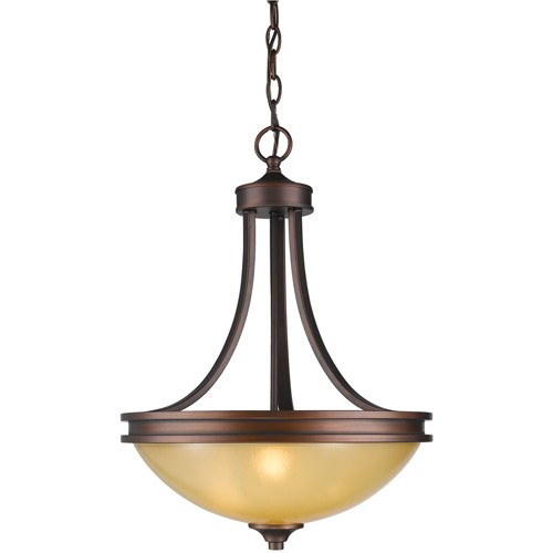 Golden Lighting 1051 3p Sbz Hidalgo 3 Light 16 Inch Sovereign Bronze Pendant Ceiling In Regal Gl Bowl