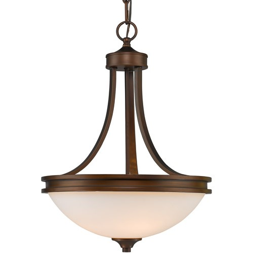 Golden Lighting 1051 3p Sbz Op Hidalgo 3 Light 16 Inch Sovereign Bronze Pendant Ceiling In Opal Gl Bowl