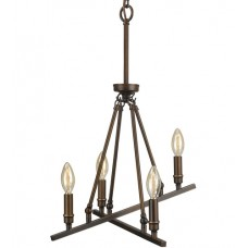 Golden Lighting 2360-4-RBZ Garvin 4 Light 16 inch Rubbed Bronze Chandelier Ceiling Light