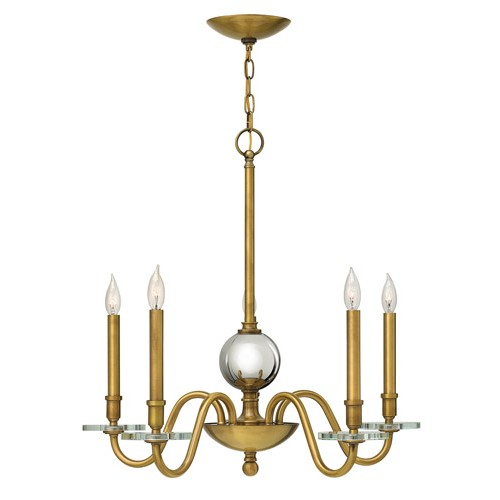 Hinkley 4205hb everly 5 light 28 inch heritage brass chandelier hinkley 4205hb everly 5 light 28 inch heritage brass chandelier crystal bobeches aloadofball Choice Image
