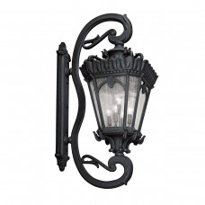 Kichler 9362BKT Tournai 5 Light 70 inch Textured Black Outdoor Wall Lantern