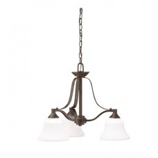 Kichler 1781OZ Langford 3 Light 22 inch Olde Bronze Chandelier Ceiling Light