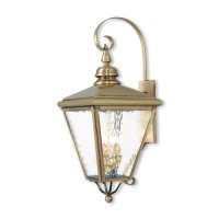 Livex 2036-01 Cambridge 4 Light 35 inch Antique Brass Outdoor Wall Lantern