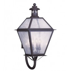 Livex 2050-07 Waldwick 4 Light 30 inch Bronze Outdoor Wall Lantern