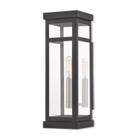 Livex 20703-04 Hopewell 1 Light 15 inch Black Outdoor Wall Lantern