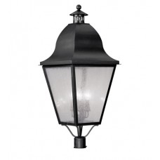 Livex 2554-04 Amwell 4 Light 38 inch Black Outdoor Post Head