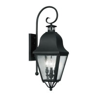 Livex 2555-04 Amwell 3 Light 32 inch Black Outdoor Wall Lantern
