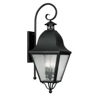 Livex 2558-04 Amwell 4 Light 36 inch Black Outdoor Wall Lantern
